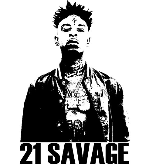 21 Savage BW by gmarreta