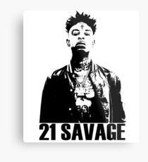 21 Savage BW Metal Print