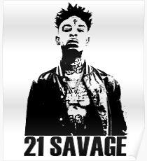 21 Savage BW Poster