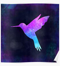 HUMMINGBIRD IN SPACE! Poster