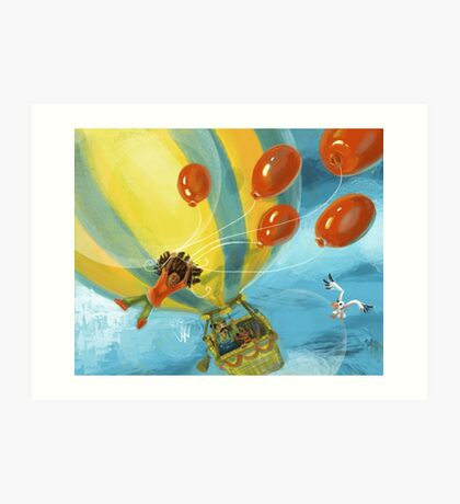Balloon Lift Off 6, Balloon Crossing Art Print