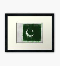 Pakistan Flag Reworked No. 66, Series 1 Framed Print
