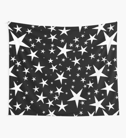 NDVH Stars (white on black) Wall Tapestry