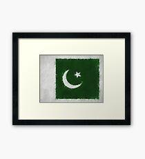 Pakistan Flag Reworked No. 66, Series 4 Framed Print