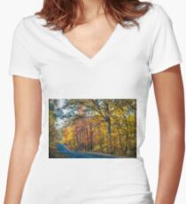 Seasonal Beauty Women's Fitted V-Neck T-Shirt
