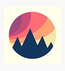 Circle Landscape (Mountains) Photographic Print