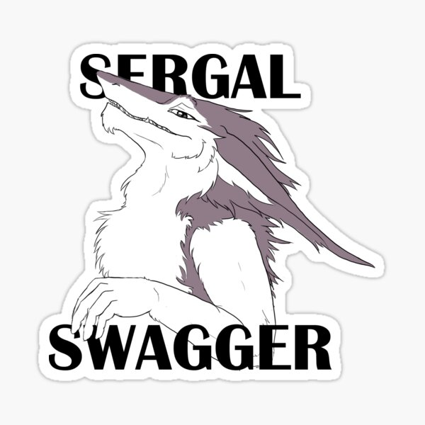 Sergal Swagger (Violet) Sticker