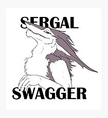 Sergal Swagger (Violet) Photographic Print