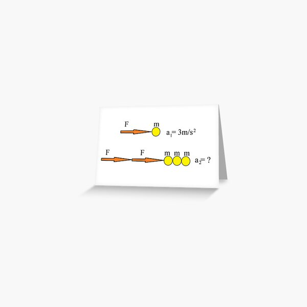 Newton's Law Greeting Card