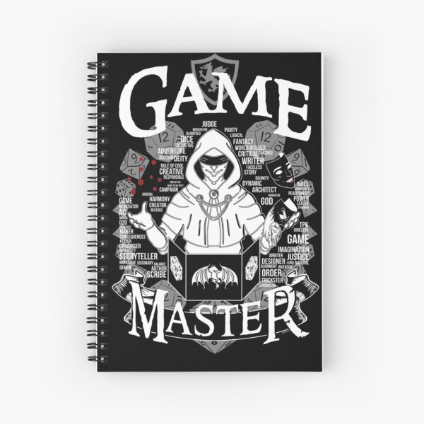 Game Master - White Spiral Notebook