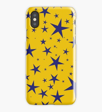 NDVH Stars (blue on gold) iPhone Case
