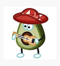 Singing Avocado Photographic Print
