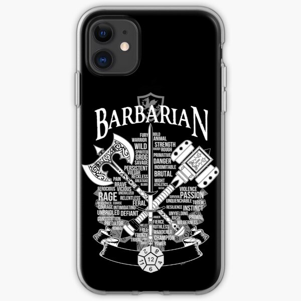 RPG Class Series: Barbarian - White Version iPhone Soft Case