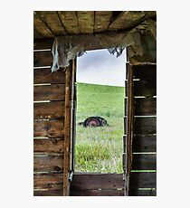 Abandoned Shack Looking Ahead Photographic Print