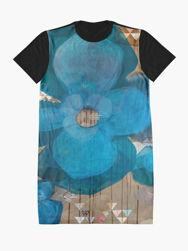 Alternate view of Fragmentary Blue Graphic T-Shirt Dress
