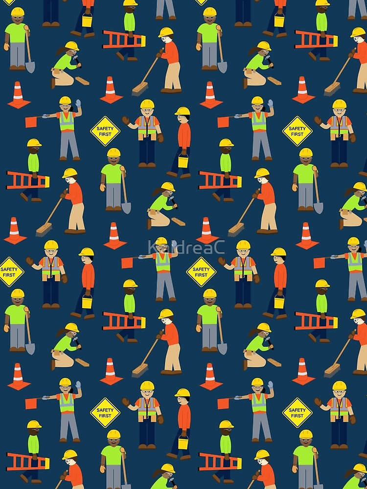 7d67e721d5 Safety first Construction Volunteer Workers Blue Background