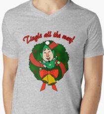 Tingle All the Way Men's V-Neck T-Shirt