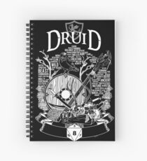 RPG Class Series: Druid - White Version Spiral Notebook