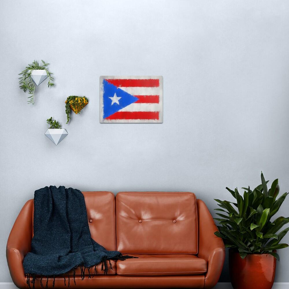 Puerto Rico Flag Reworked No. 66, Series 3 Metal Print