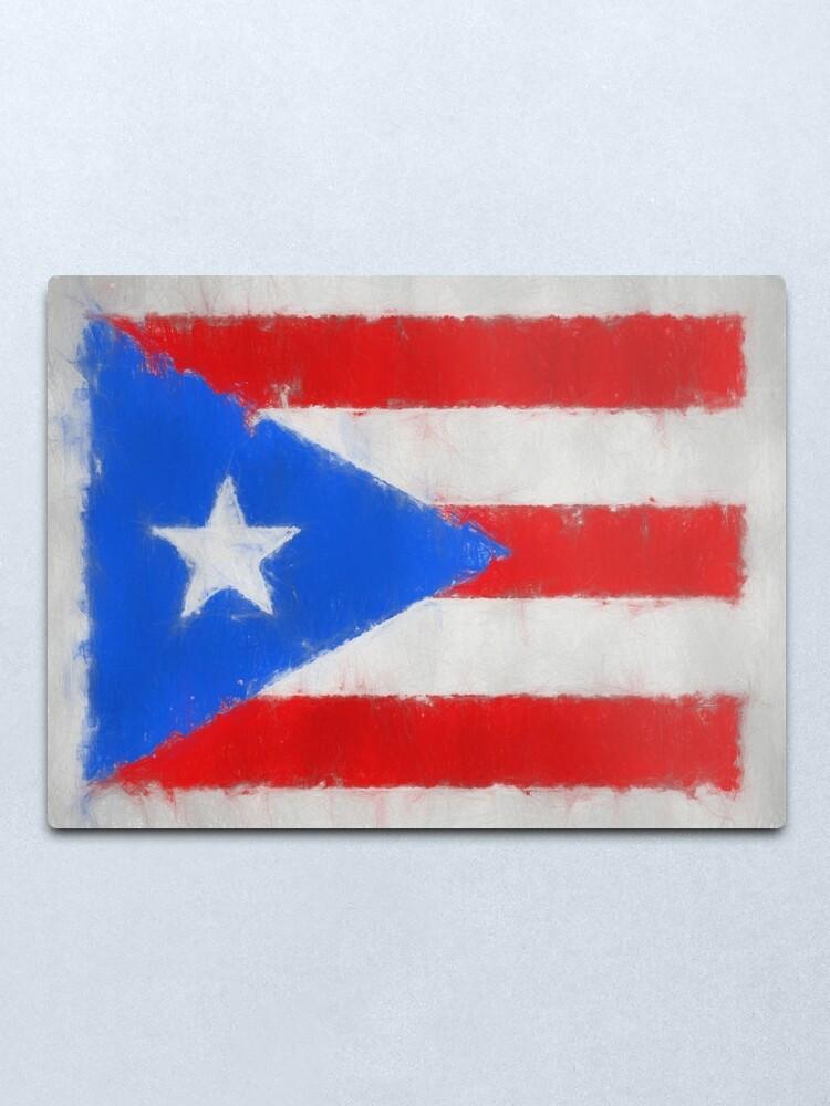 Alternate view of Puerto Rico Flag Reworked No. 66, Series 3 Metal Print