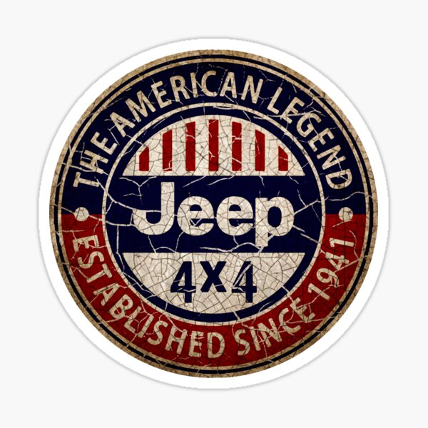 Vintage American 4x4 off road vehicles USA Sticker