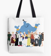 NO BACKGROUND Even More Minimalist Robin Williams Character Tribute Tote Bag