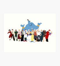KEIN HINTERGRUND Noch minimalistischer Robin Williams Character Tribute Kunstdruck