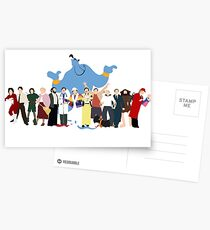 NO BACKGROUND Even More Minimalist Robin Williams Character Tribute Postcards