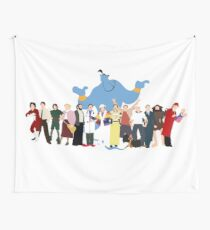 NO BACKGROUND Even More Minimalist Robin Williams Character Tribute Wall Tapestry