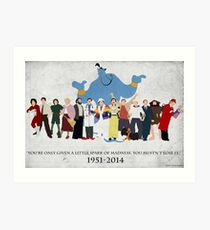 Minimalist inspiriert Robin Williams Charakter Tribut Kunstdruck
