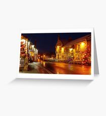 christmas in castleton derbyshire peak district  Greeting Card