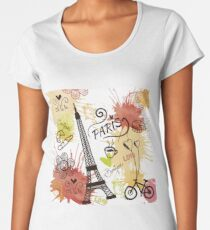 Paris, France, Travel Poster Women's Premium T-Shirt