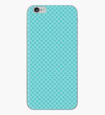 Aqua Blue Polka Dots iPhone Case