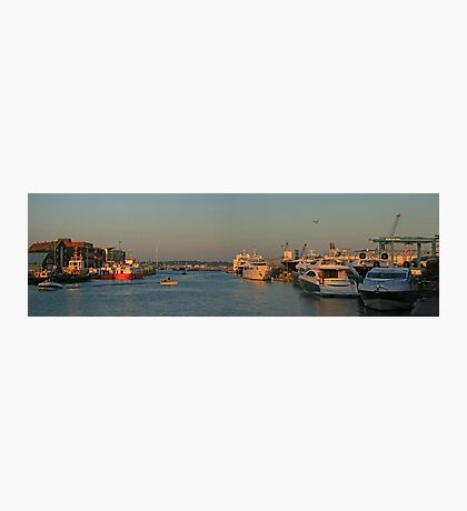 Port of Poole Pano Photographic Print