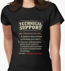 Tech Support Definition SysAdmin Shirt Women's Fitted T-Shirt