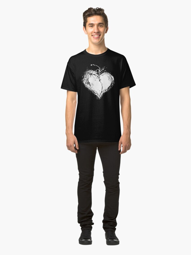 Alternate view of White Heart Classic T-Shirt