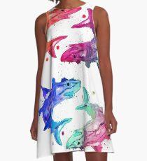 Colored sharks A-Line Dress