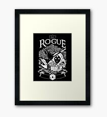 RPG Class Series: Rogue - White Version Framed Print