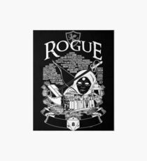 RPG Class Series: Rogue - White Version Art Board