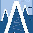 Lillehammer, Norwegen, Ski-Reise-Plakat von BokeeLee