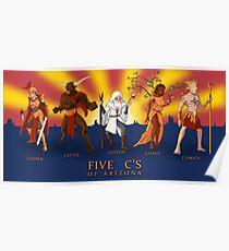 The Five C's of Arizona Poster