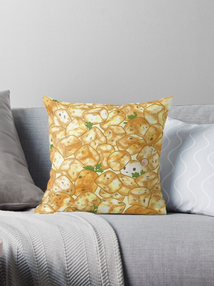 Quot Croutons Quot Throw Pillow By Pawlove Redbubble