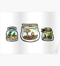 tiny terrariums sticker sheet (3) Poster