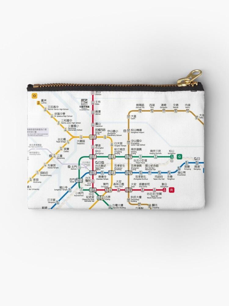'Taipei Mrt Map (public transport)' Zipper Pouch by superfunky