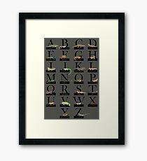 Reptiles Alphabet Framed Print