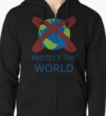 Protect your world Zipped Hoodie