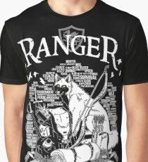 RPG Class Series: Ranger - White Version Graphic T-Shirt