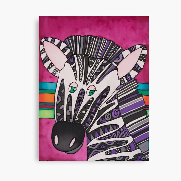 Be as individual as zany Ziggy the Zebra! Canvas Print