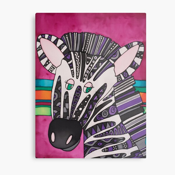 Be as individual as zany Ziggy the Zebra! Metal Print