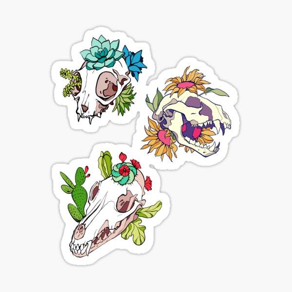 Animal Flower Skulls Sticker